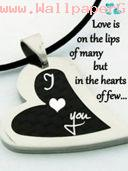 Love always be in heart not on lips