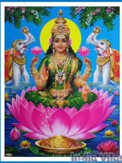 Download Jai Shre Laxmi Mata Ji Ki Spiritual Wallpaper For Your