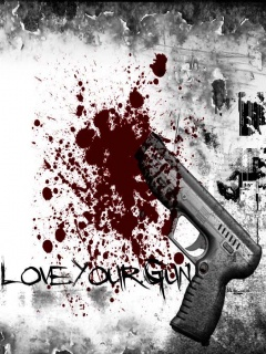 Download Love you gun - 3d abstract wallpaper-Mobile Version