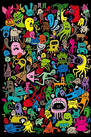 Download Monsters Abstract Iphone Wallpaper For Your