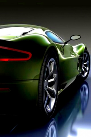 Download Aston Martin Green 3d Abstract Wallpaper For Your Mobile