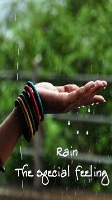 Download Special Feeling Of Rain Iphone Saying Wallpapers
