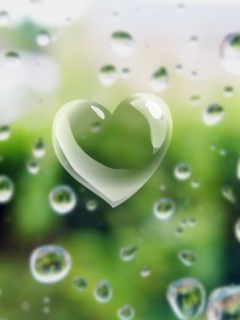Download Water Heart Wallpaper For Mobile Cell Phone