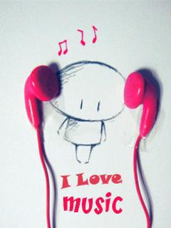 Download Music headphone cartoon - Heart touching love quote