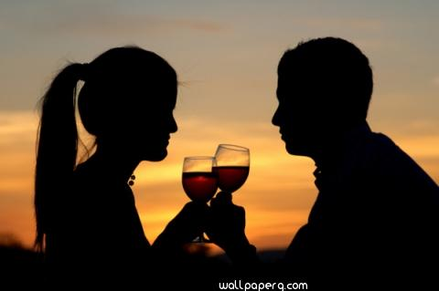 Valentines day romantic wine date
