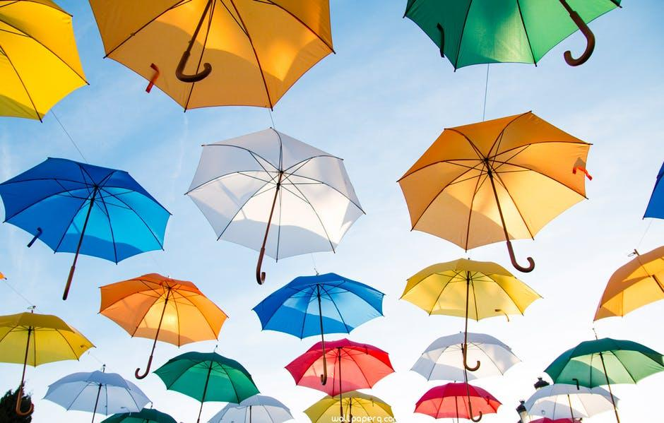Umbrellas hd wallpaper