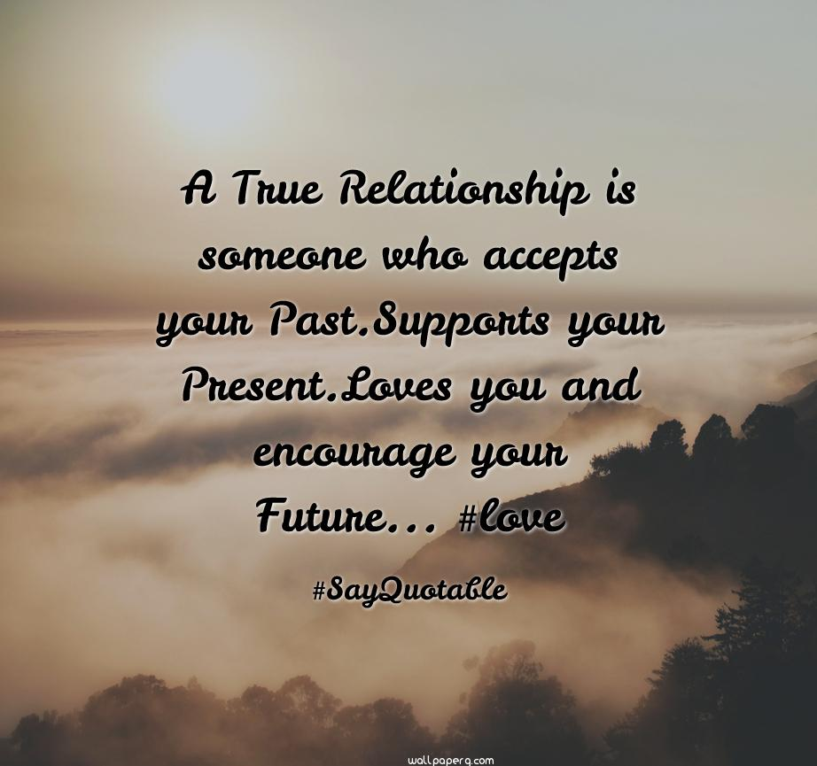 True relationship forget your past