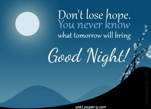 Do not lose hope emo good night
