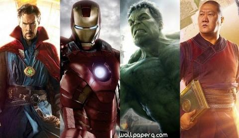 Doctor strange hulk iron man wong avengers infinity war