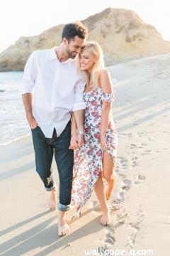 Love on the beach image