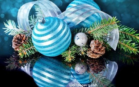 Blue table christmas ornament