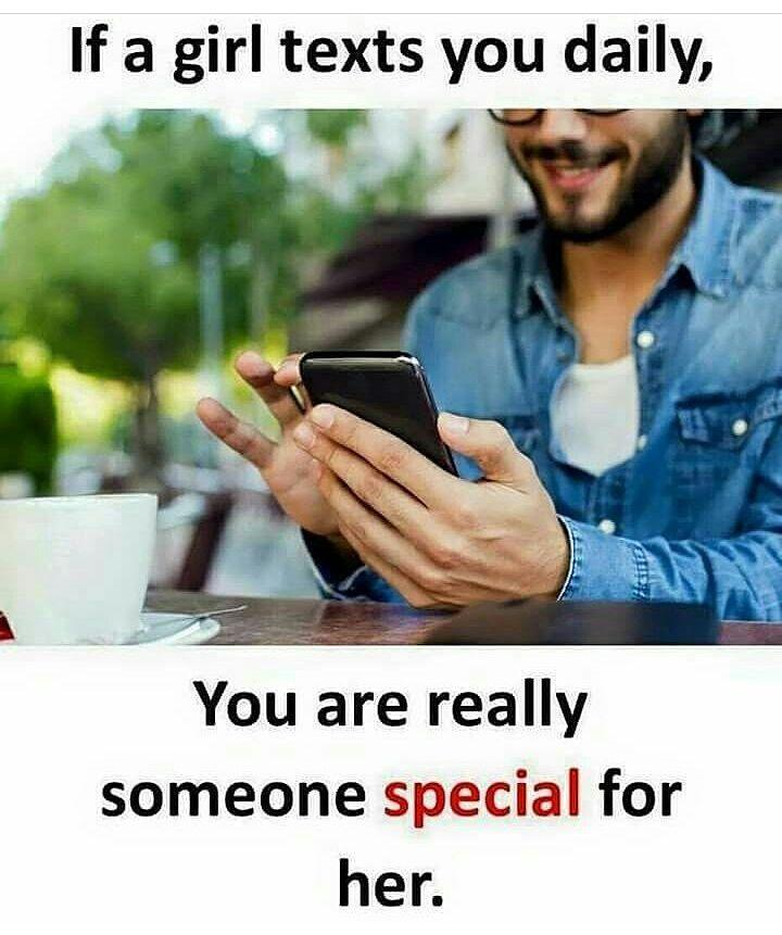 Texting someone special