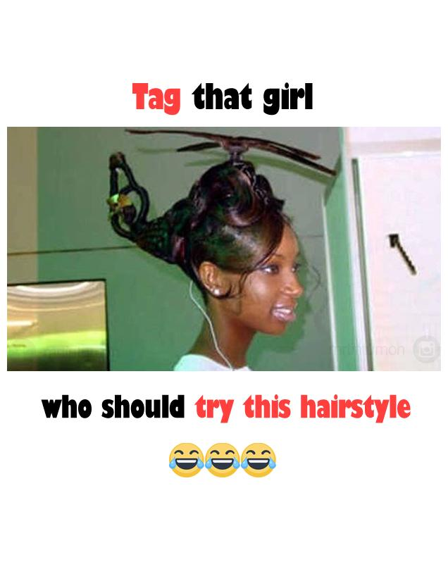Funny hairstyle image