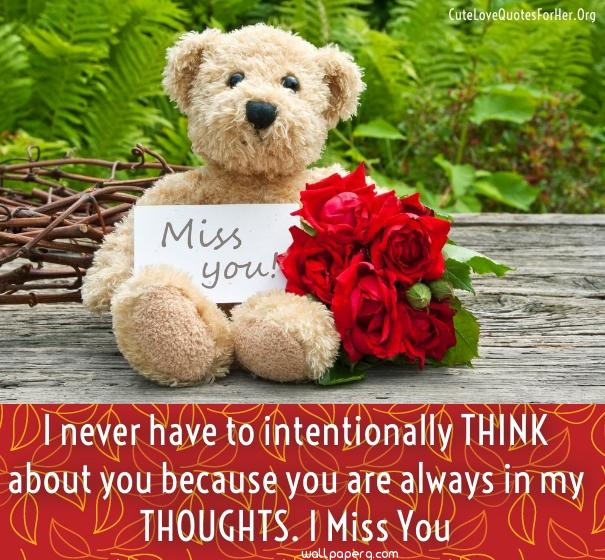I miss you quote for him