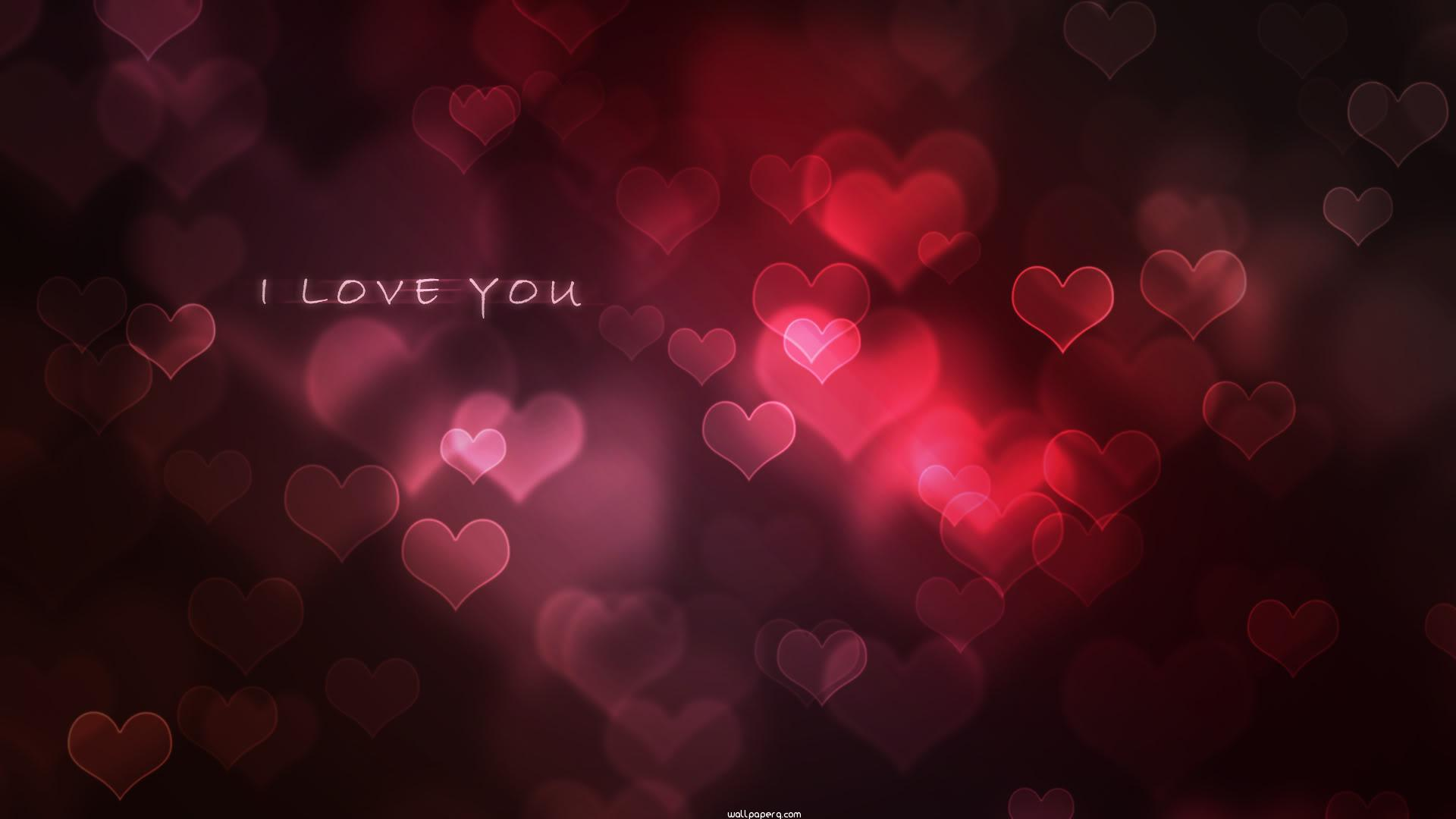 Red hearts background ima
