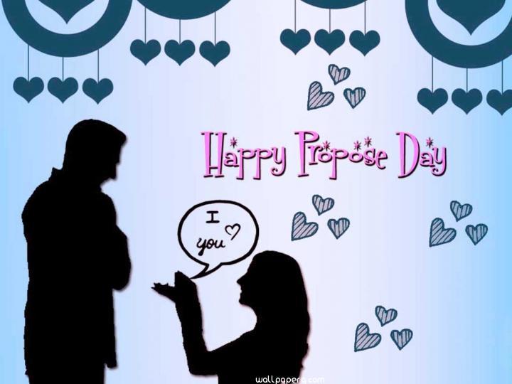 Girl proposing on propose day