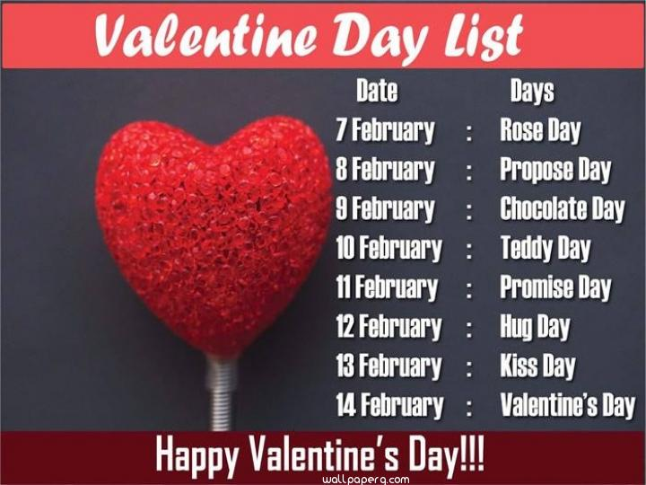 Valentine day dates for love