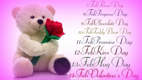 Valentines day week teddy bear image