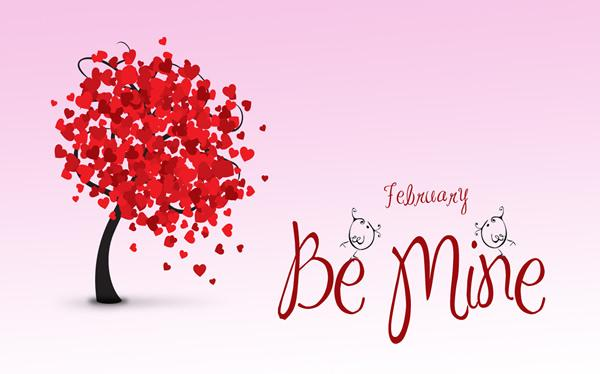 February be mine quote image