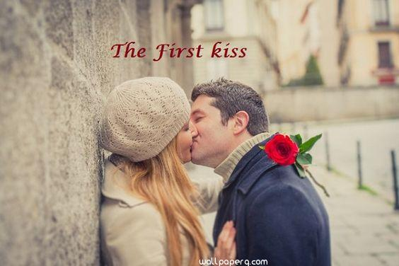 The first kiss image