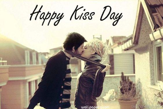 Happy kiss day image with love
