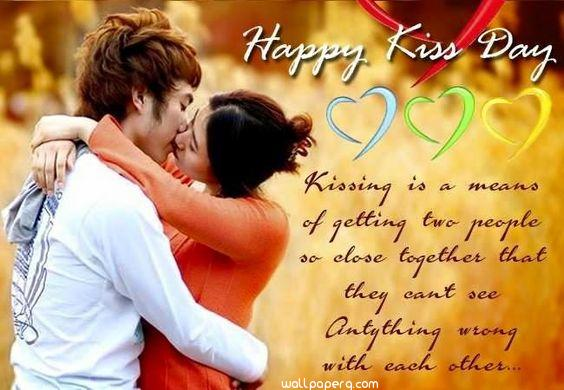 Kiss day wallpaper with quote