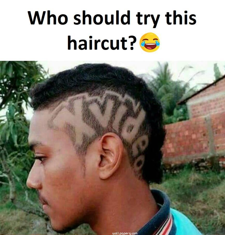 Different hair style for