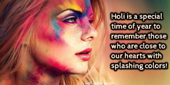 Holi girl with quote image
