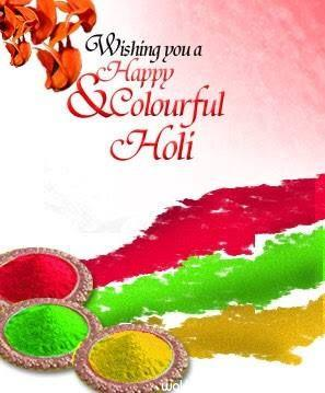 Colourful holi image with wishes