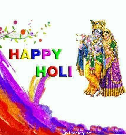 Happy holi with god wishes