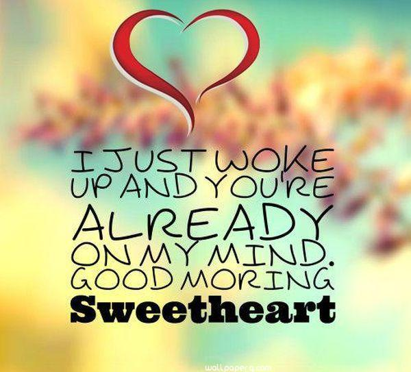 Good morning sweetheart quote