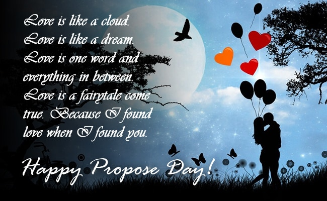 Love is cloud happy propose day