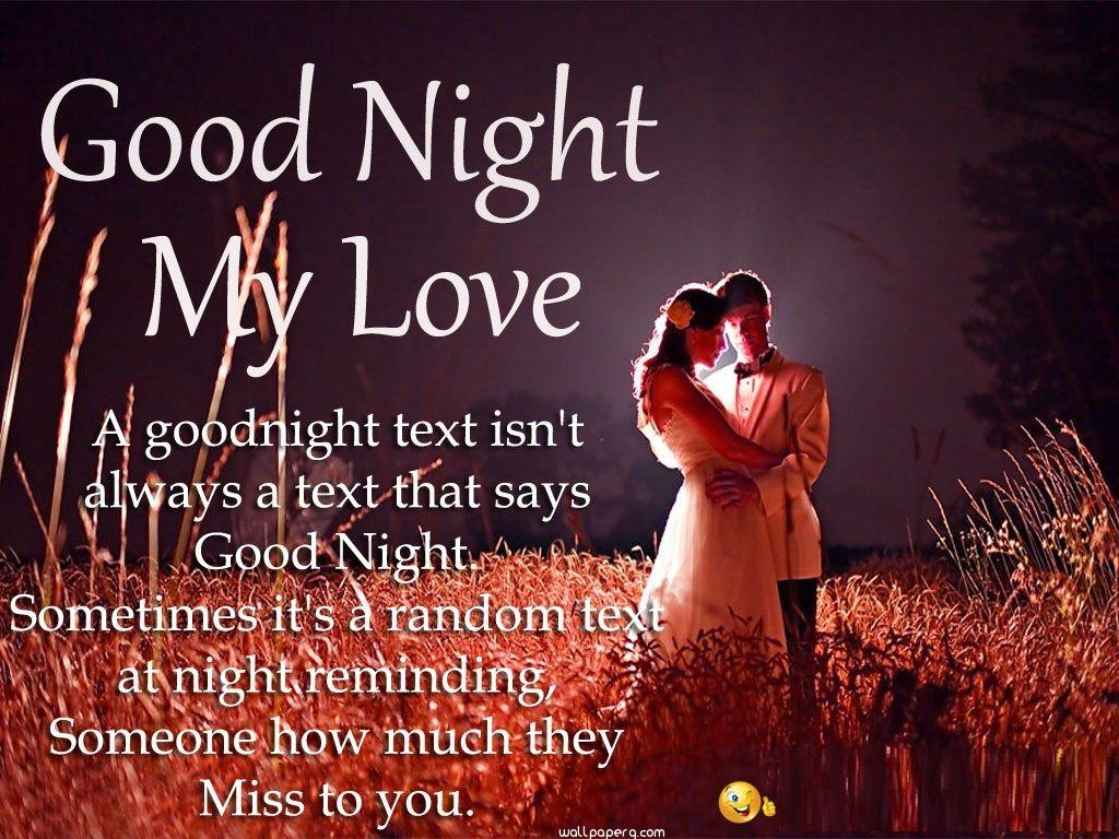 Good night miss you text