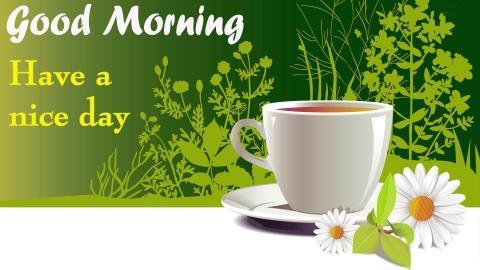 Tea good morning image