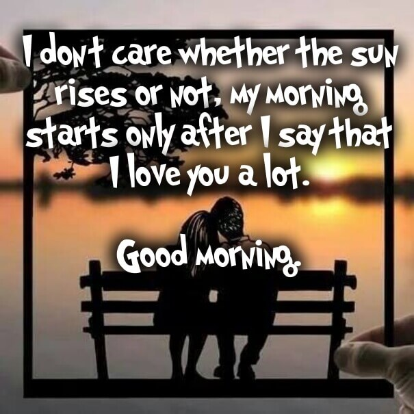 My morning start with you whatsapp love wallpaper