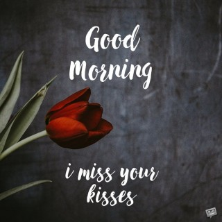 Good morning i miss your kisses