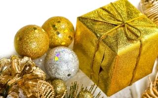 Christmas golden decorations