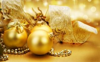 Christmas golden globes