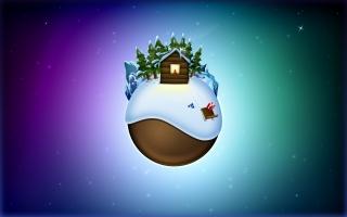 Earth on christmas
