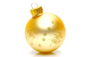 Xmas golden globe