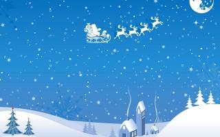 Xmas sleigh flying