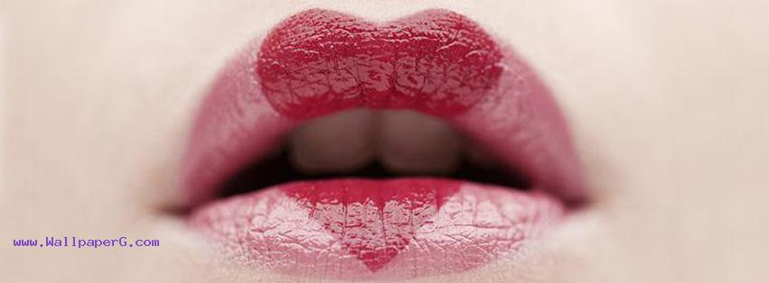 Heart lipstick fb cover