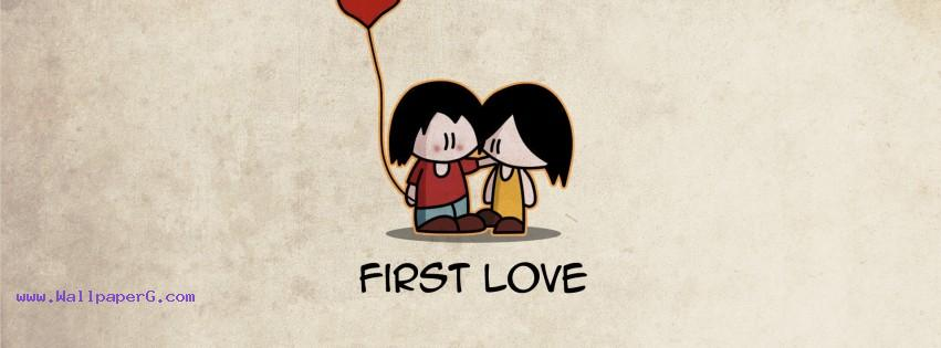 First love fb cover ,wide,wallpapers,images,pictute,photos