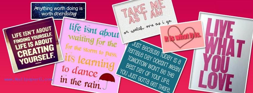 Quotes collage fb cover