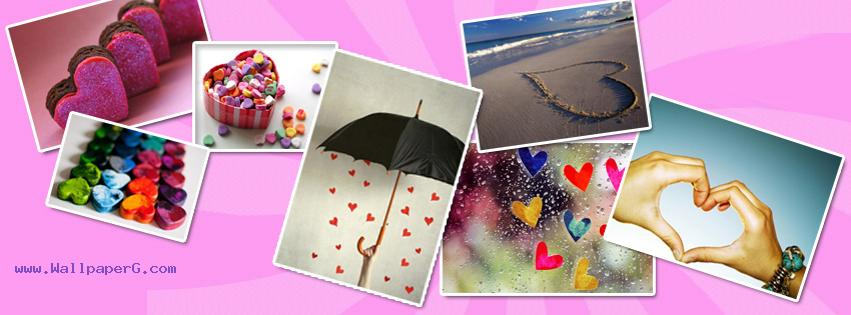 Hearts collage fb cover