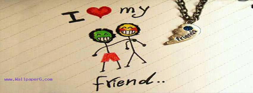 I love my friend fb cover