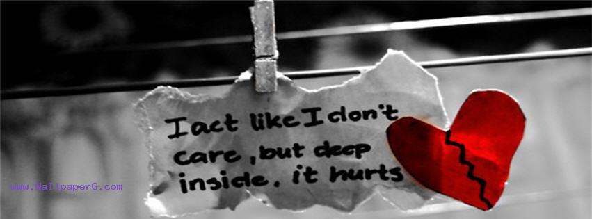 Broken heart hurt fb cove