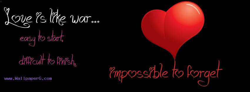 Love impossible to forget fb cover