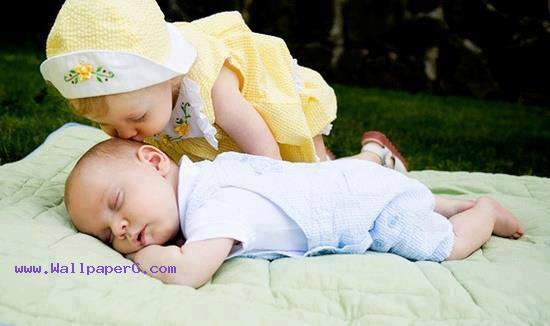 A baby kiss on head ,wide,wallpapers,images,pictute,photos