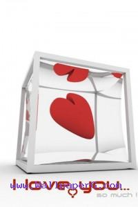 I love u in cube ,wide,wallpapers,images,pictute,photos